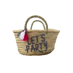 let's party basket in grey