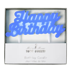 happy birthday candle - blue