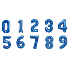 16 inch blue mylar number balloons