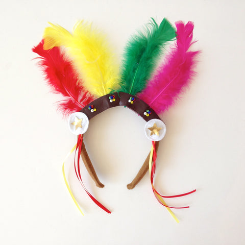 feather headdress - headband