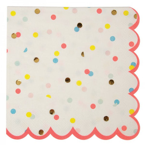 Polka dot neon large napkins
