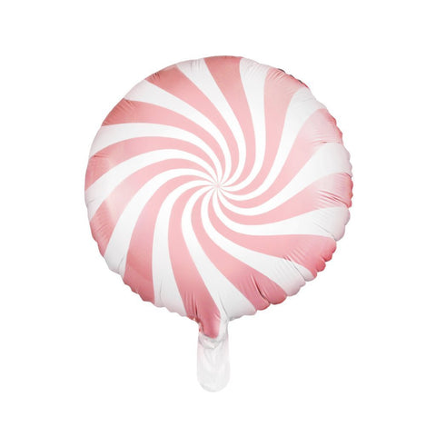 candy swirl balloon pink and white