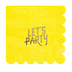 fire and creme lets party large napkin