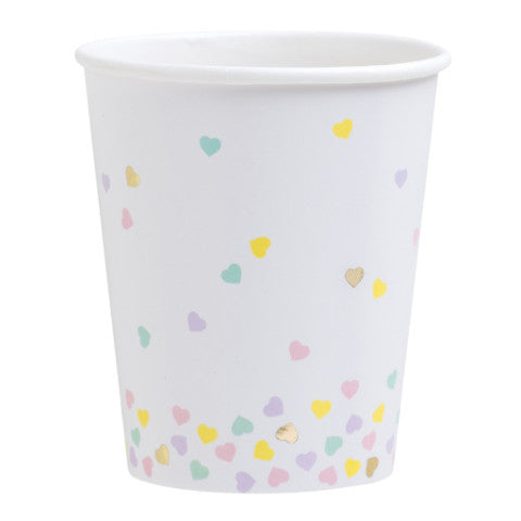 hearts party cups