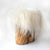 white fur stool cover