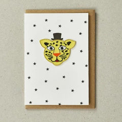 leopard patch card