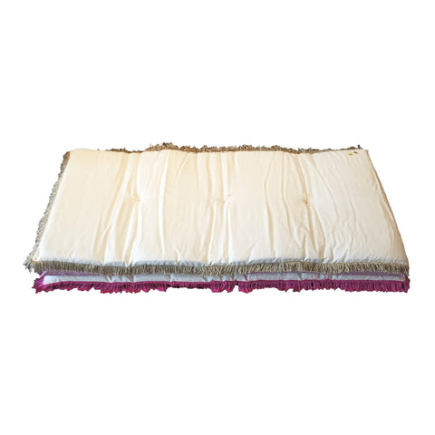 little hippie mattress - gold fringe