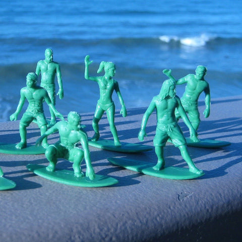 miniature surfers