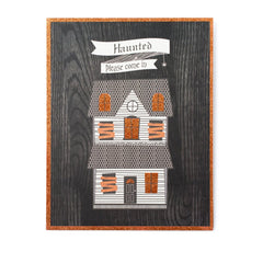 haunted house standing art