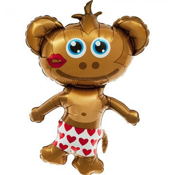 hunky monkey mylar balloon - 14 inches