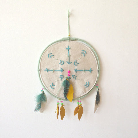 dreamcatcher mint green