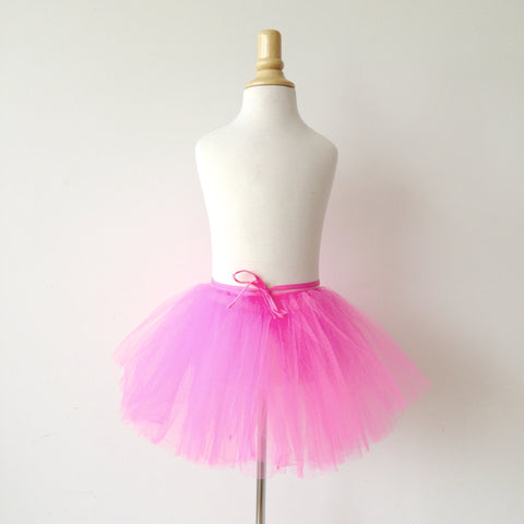 small tutu tulle pink fluo