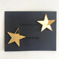 gold reflective star clips