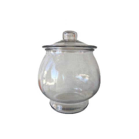round candy jar with lid