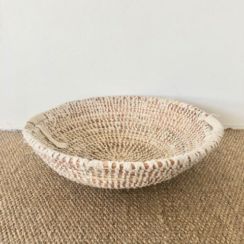 woven basket with handles medium