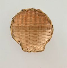 beige shell basket