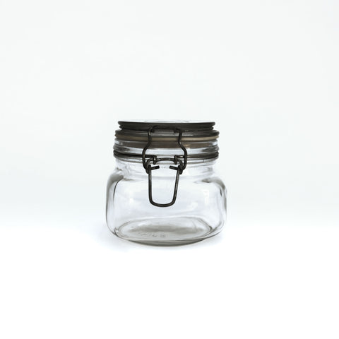 short wide mouth mason jar with lid