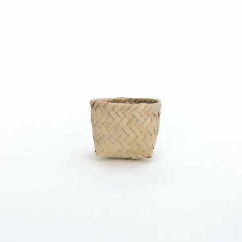 small Moroccan woven container