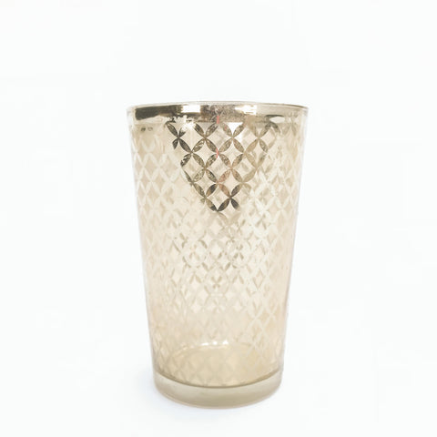 gold patterned votive holder