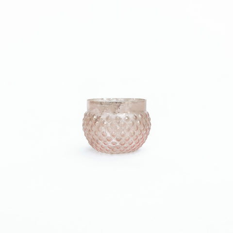extra small rose gold votive holder