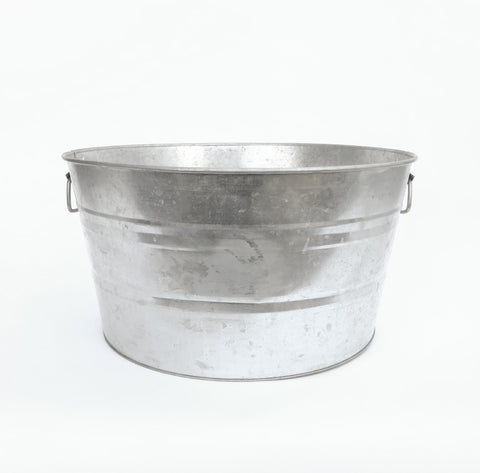 large metal bucket with handles