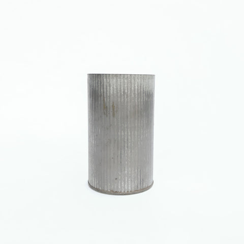 large tall wavy tin container