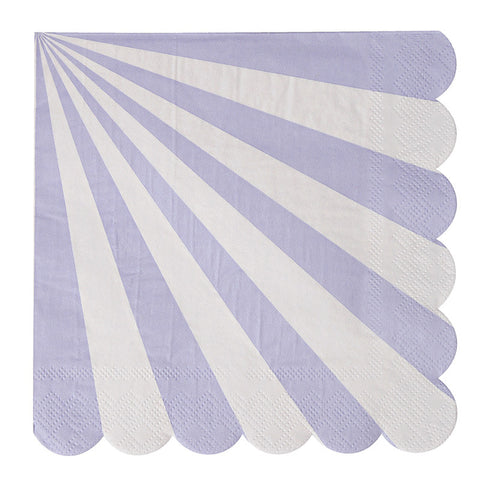 lavender striped large napkins