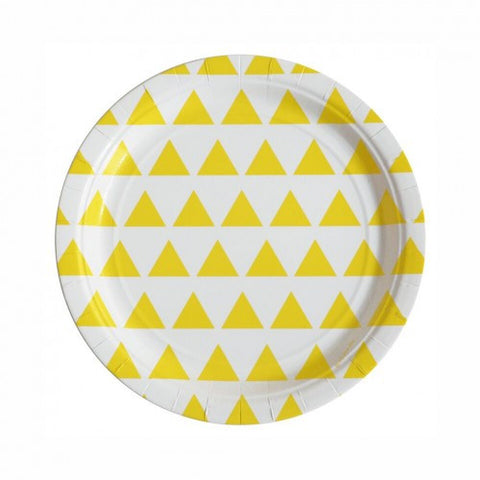 yellow triangle plates