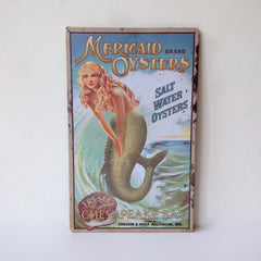 mermaid vintage steel poster