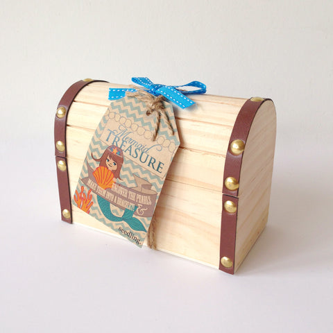 Mermaid treasure chest craft
