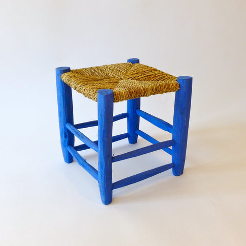 moroccan stool (blue)