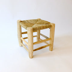 moroccan stool (natural)