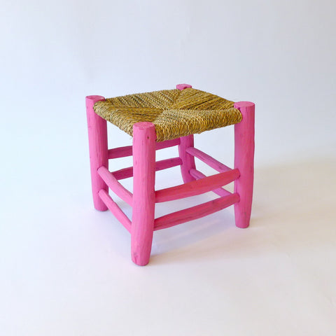 moroccan stool (pink)
