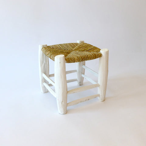 moroccan stool (white)