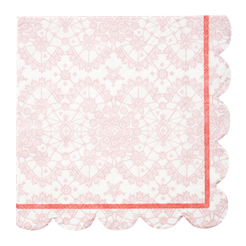 pink lace paper napkins