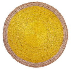 Pinwheel Rug - Natural/Canary