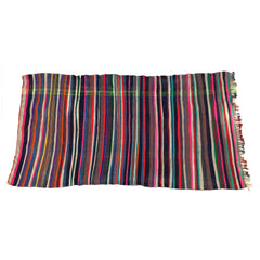 moroccan rug multicolored with stripes
