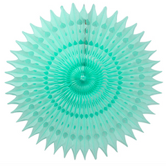 21'' honeycomb fan - frosted mint
