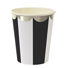 meri meri black stripe party cups