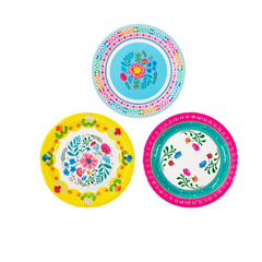 talking tables boho floral plates