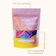 blow balloons - biodegradable multicolor