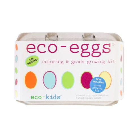 eco-egg coloring and grass growing kits