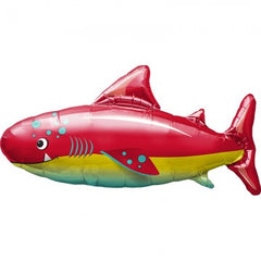 happy shark mylar balloon - 14 inches