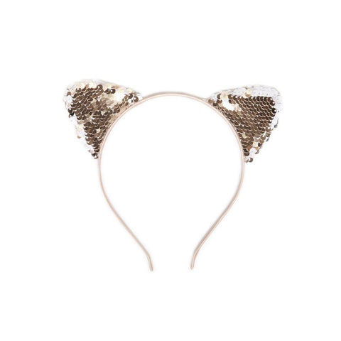 cat ears headband - gold