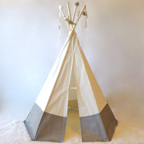 silver indoor tipi