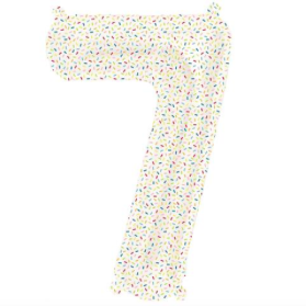 number 7 sprinkles mylar balloon - 16''