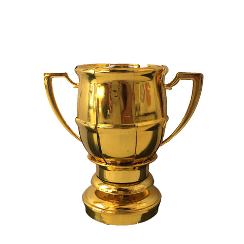 Gold Soccer Trophy Musical Happy Birthday Candle