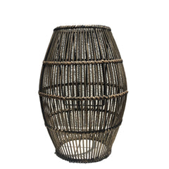 wicker candle lantern