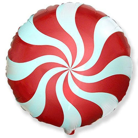 candy swirl balloon red and white