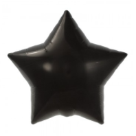 black star mylar balloon - 22''